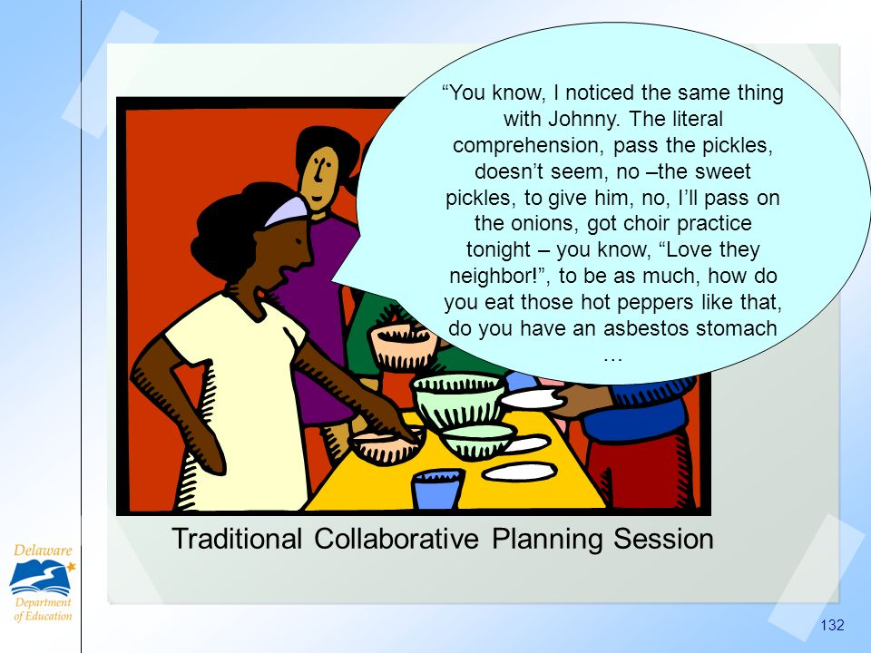 Traditional Collaborative Planning Session