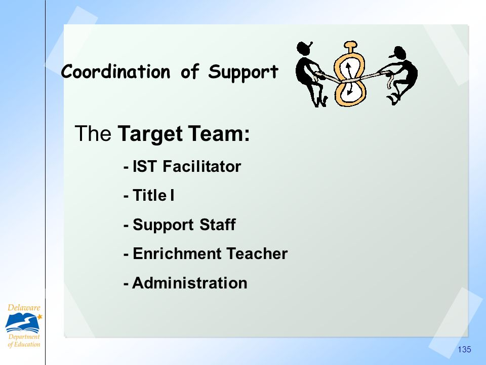 The Target Team: Coordination of Support - IST Facilitator - Title I