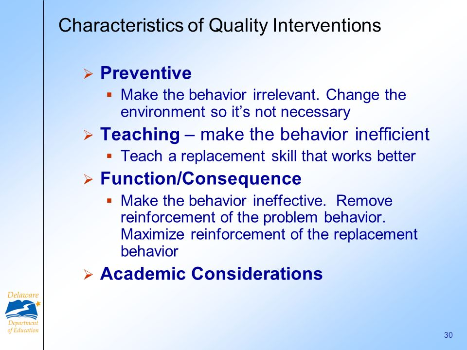 Characteristics of Quality Interventions