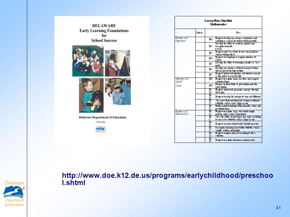 http://www.doe.k12.de.us/programs/earlychildhood/preschool.shtml
