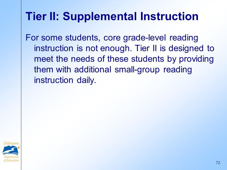 Tier II: Supplemental Instruction
