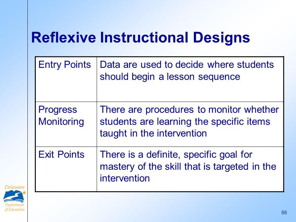 Reflexive Instructional Designs
