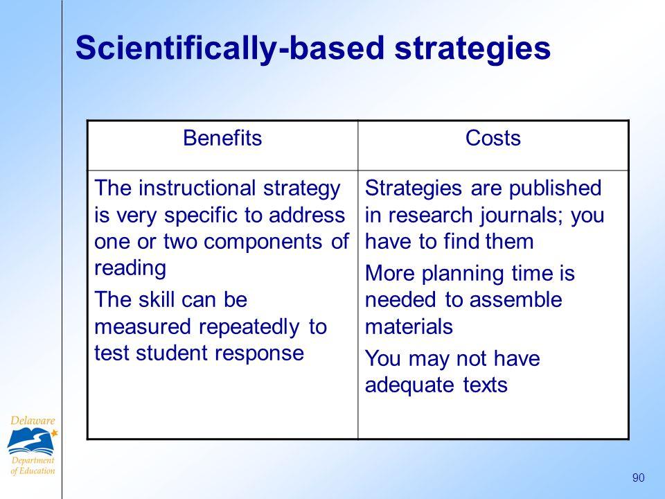 Scientifically-based strategies
