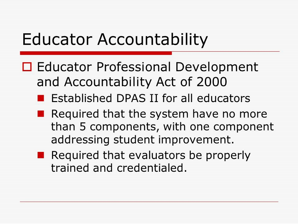 Educator Accountability
