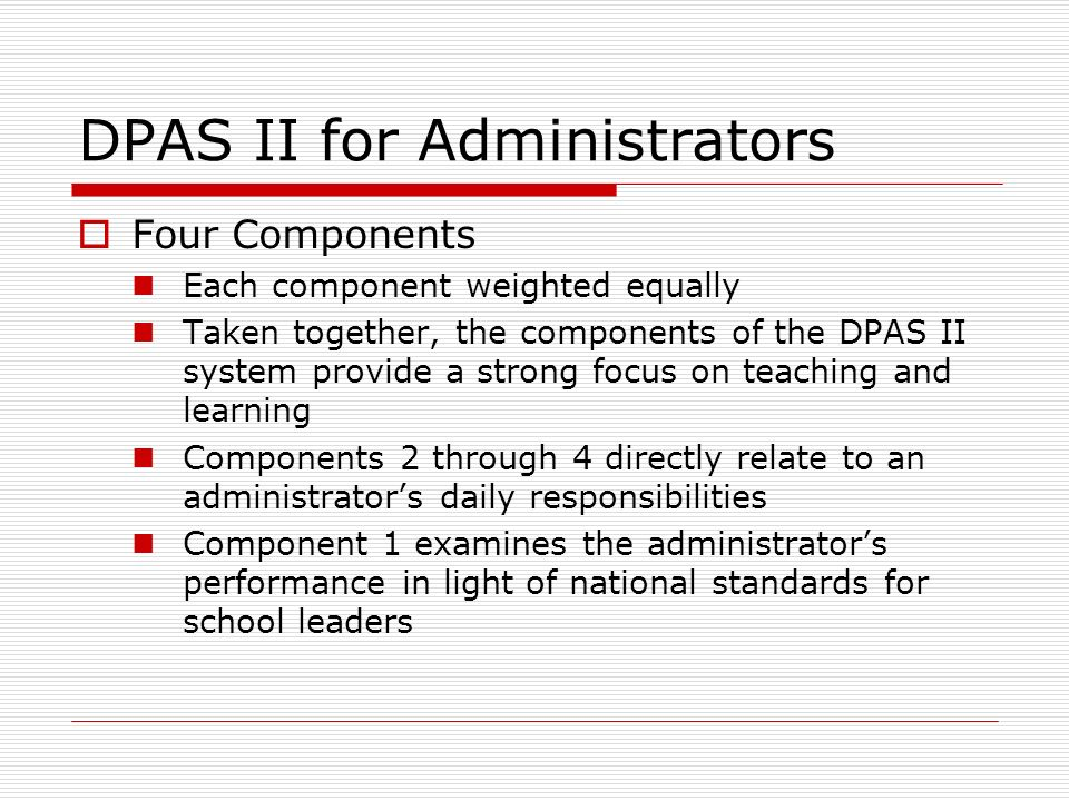 DPAS II for Administrators