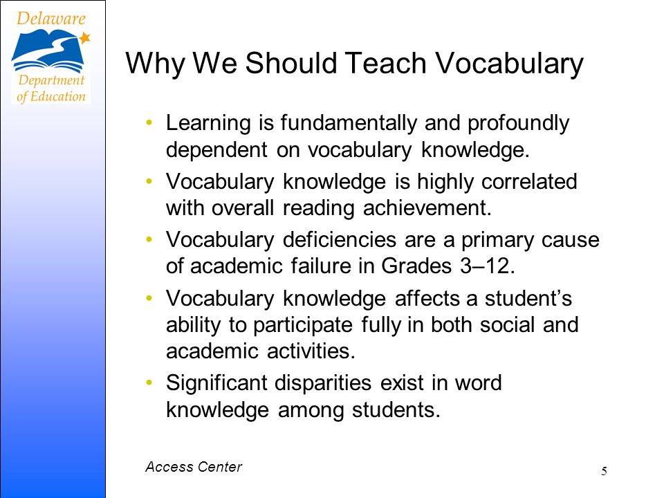 Why We Should Teach Vocabulary