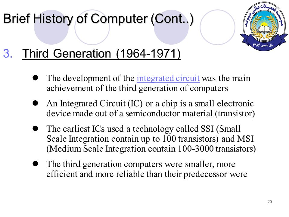 brief history of computer The history of computing predates silicon microchips and cpus by hundreds of years the modern computers we are all familiar with can trace their roots back to simple.
