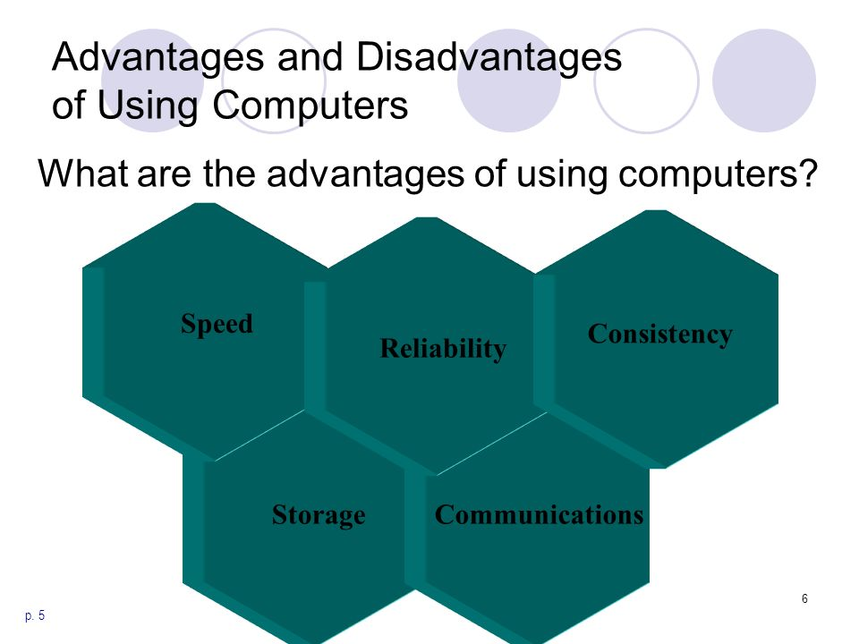 explain the following uses of computer speed reliability storage communication and consistency