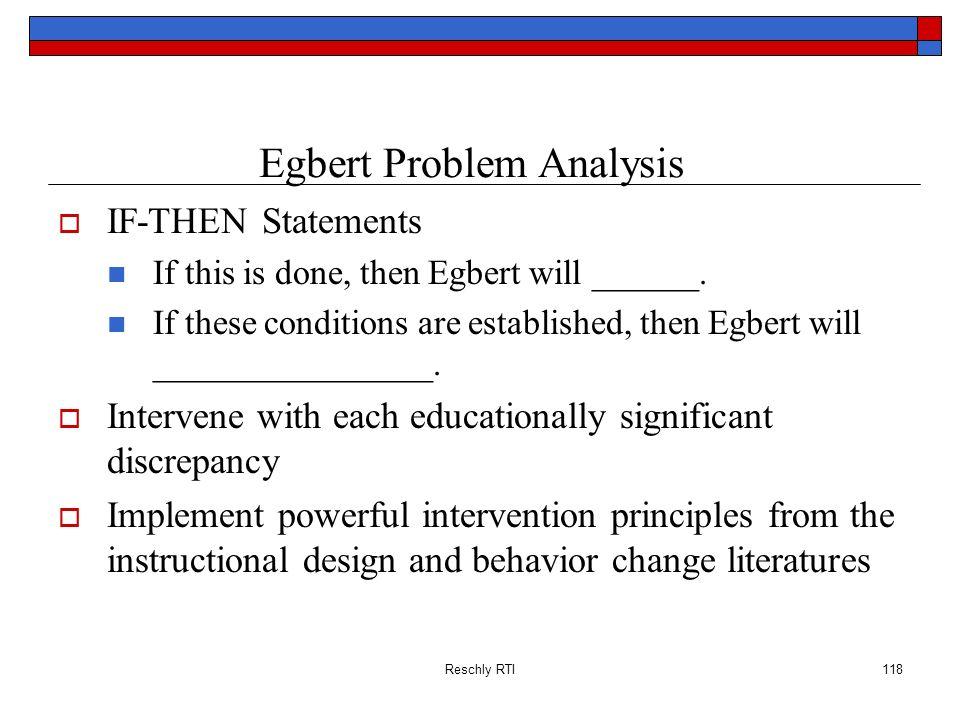 Egbert Problem Analysis