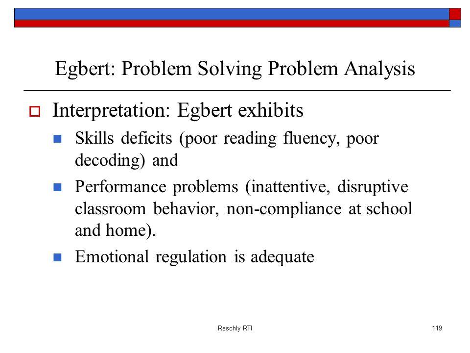Egbert: Problem Solving Problem Analysis