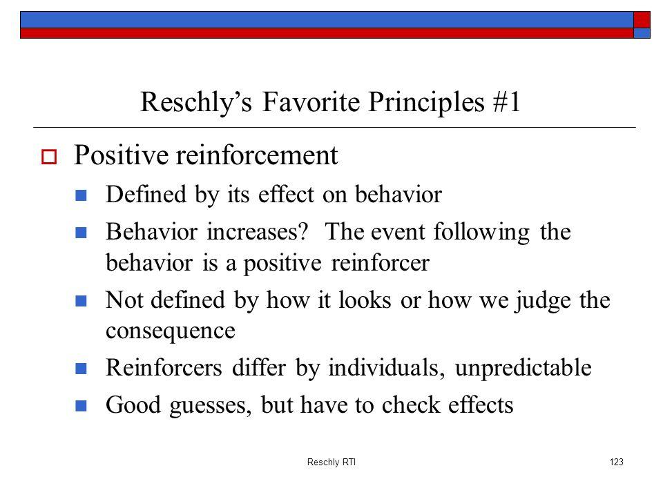 Reschly's Favorite Principles #1
