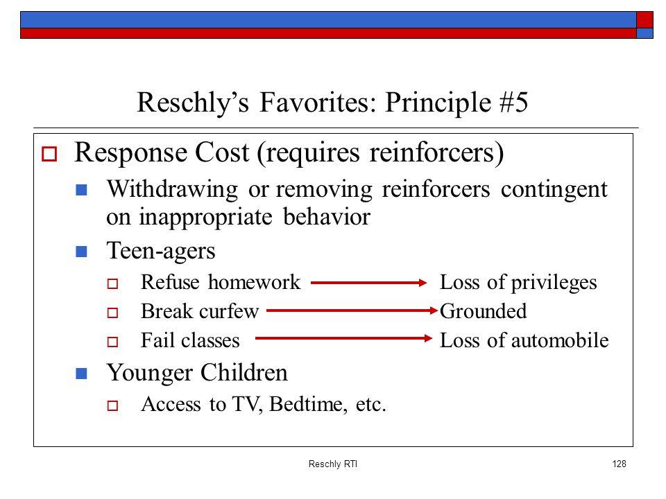 Reschly's Favorites: Principle #5