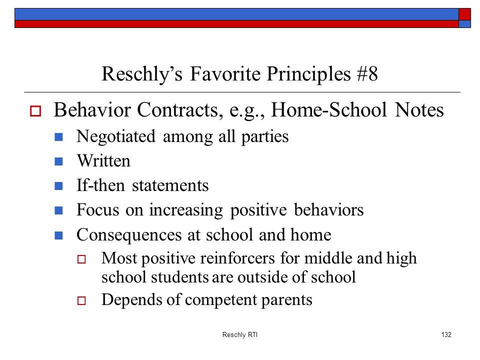 Reschly's Favorite Principles #8