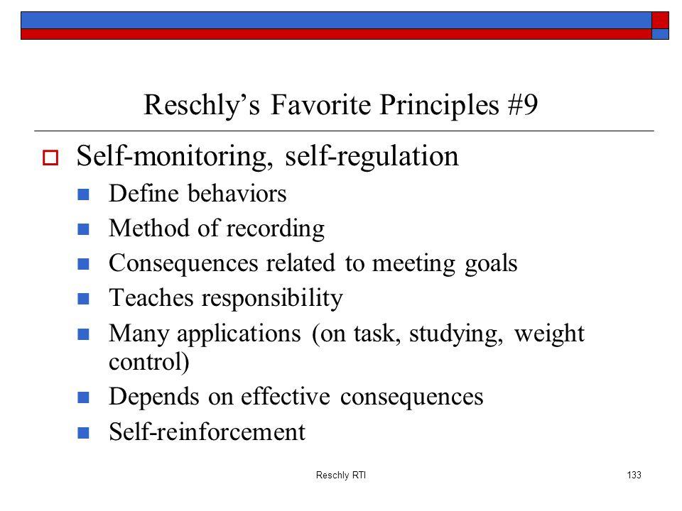 Reschly's Favorite Principles #9
