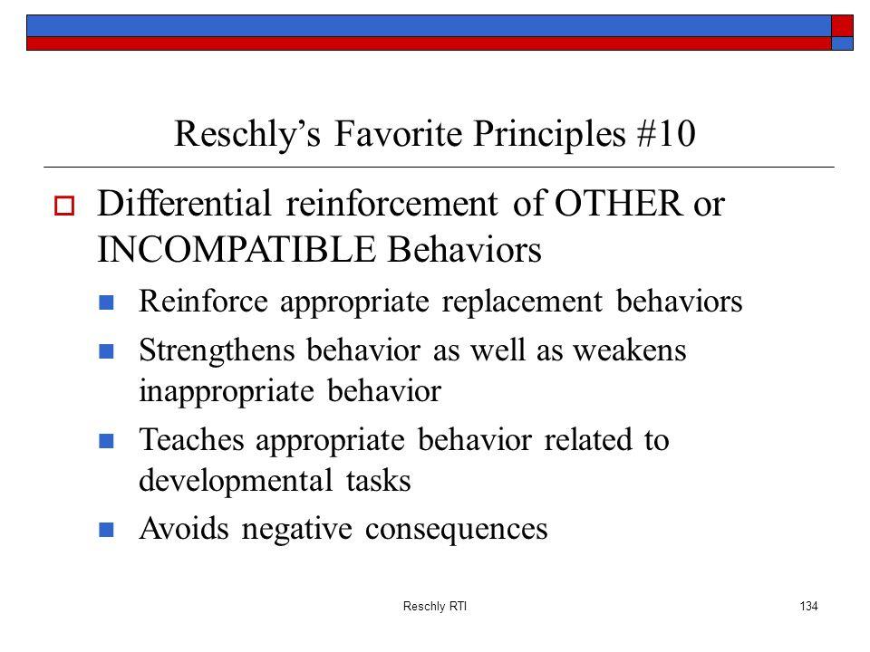 Reschly's Favorite Principles #10