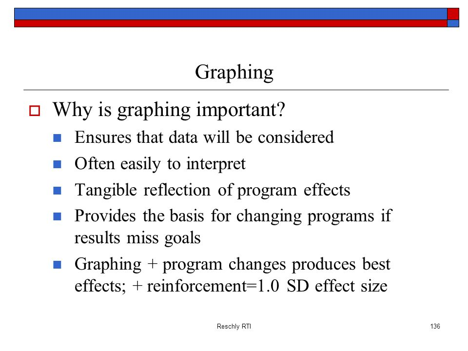 Why is graphing important