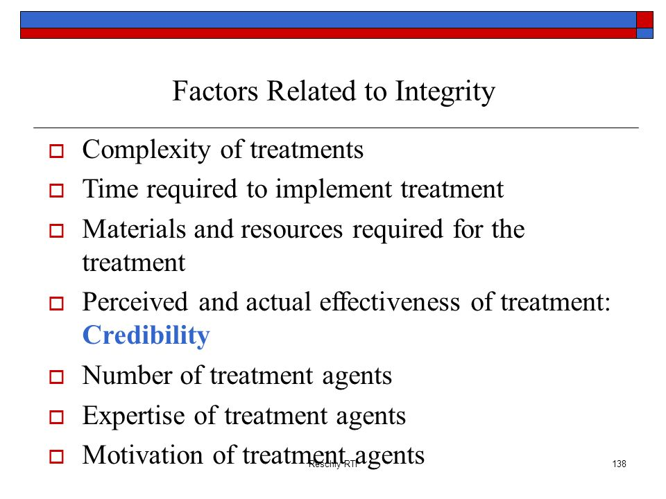 Factors Related to Integrity