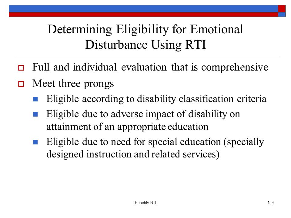 Determining Eligibility for Emotional Disturbance Using RTI