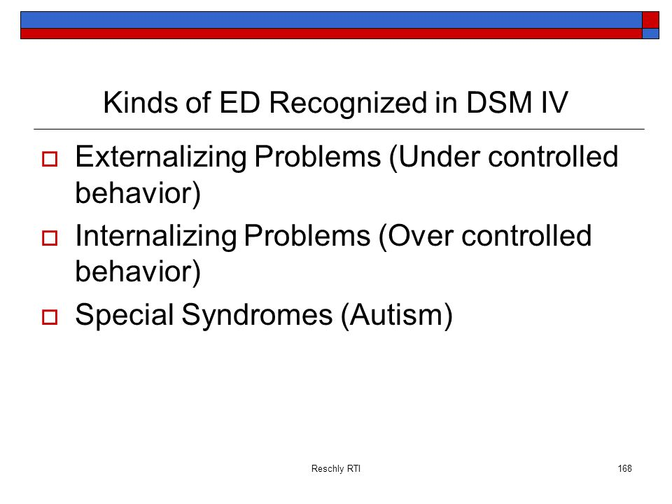 Kinds of ED Recognized in DSM IV