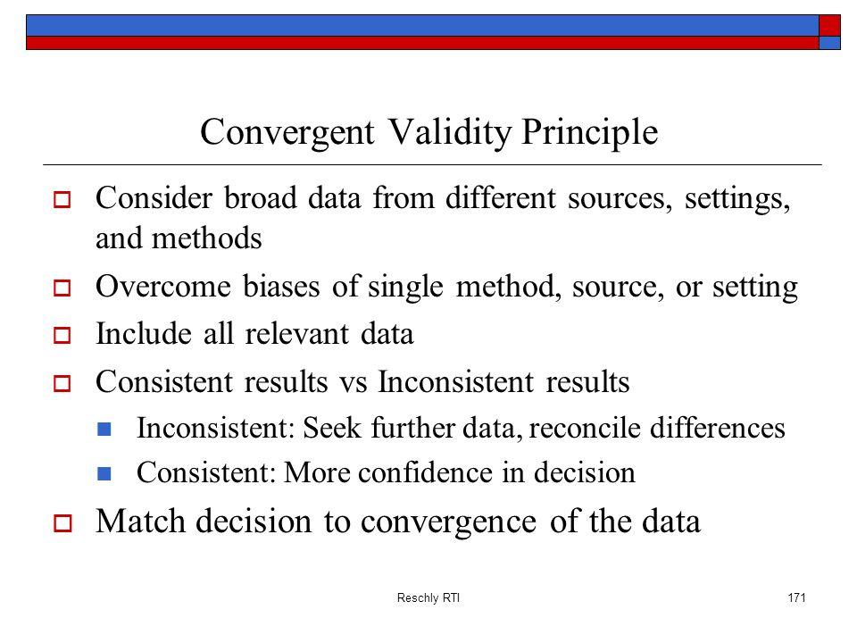 Convergent Validity Principle
