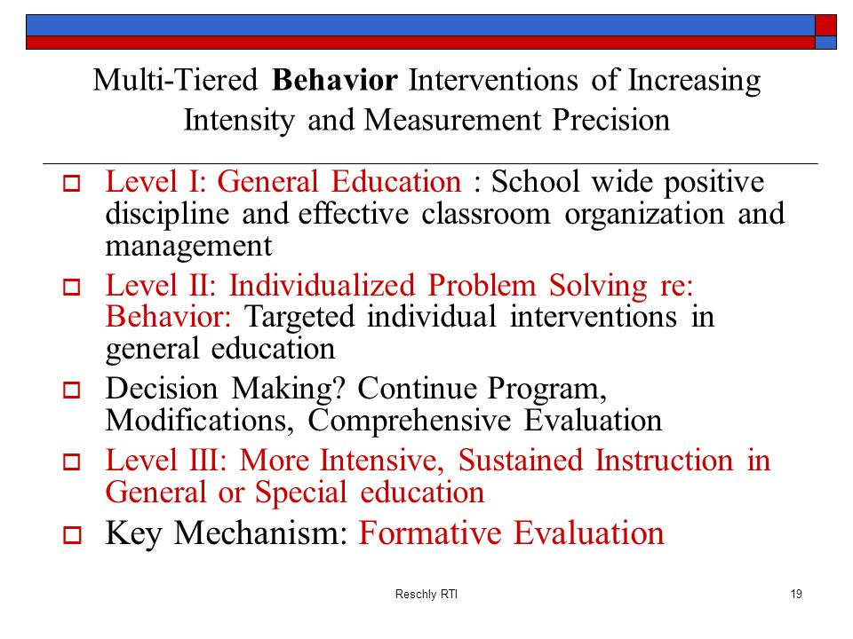 Key Mechanism: Formative Evaluation