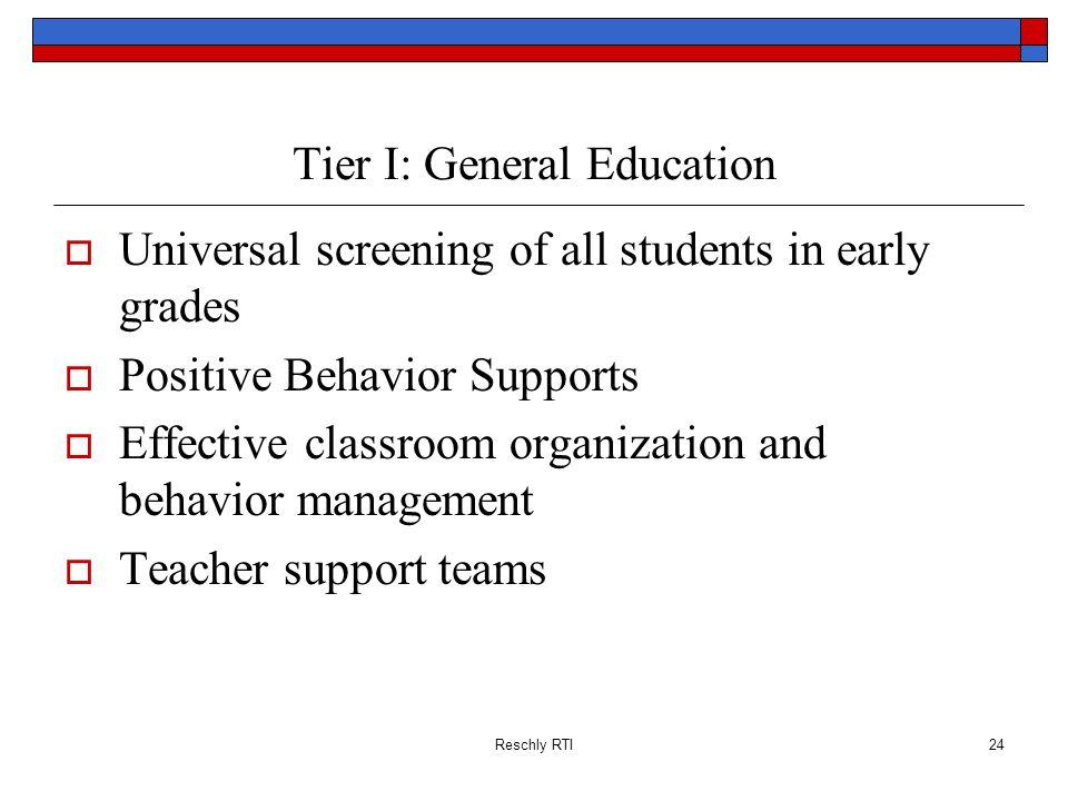 Tier I: General Education