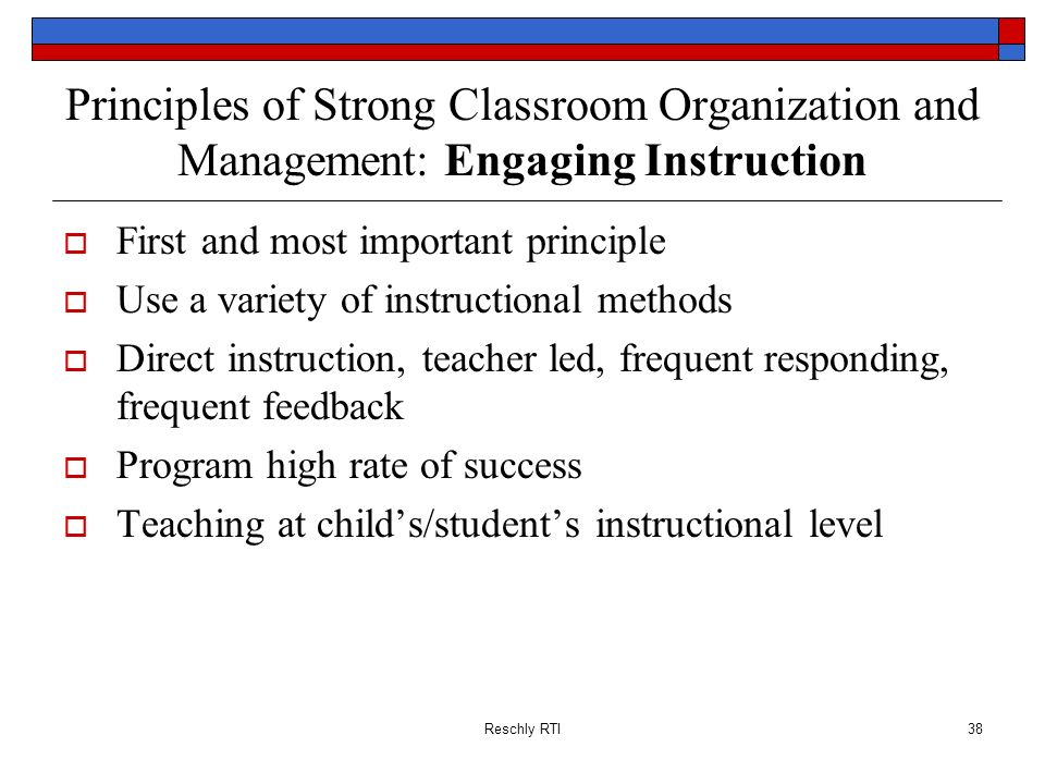 Principles of Strong Classroom Organization and Management: Engaging Instruction