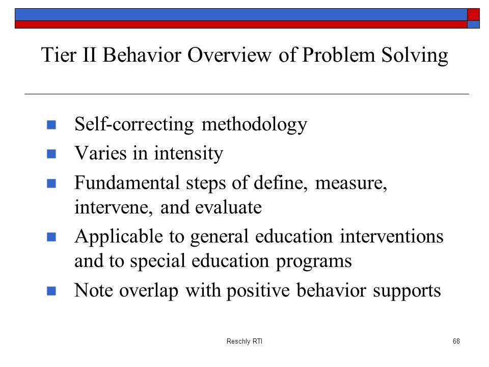 Tier II Behavior Overview of Problem Solving