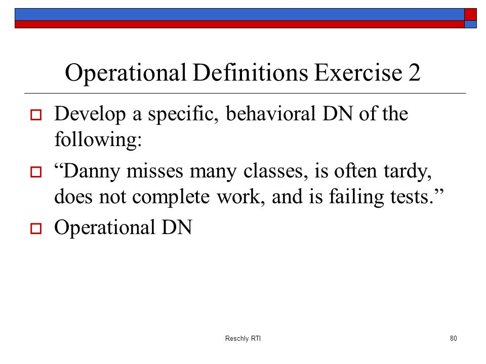 Operational Definitions Exercise 2