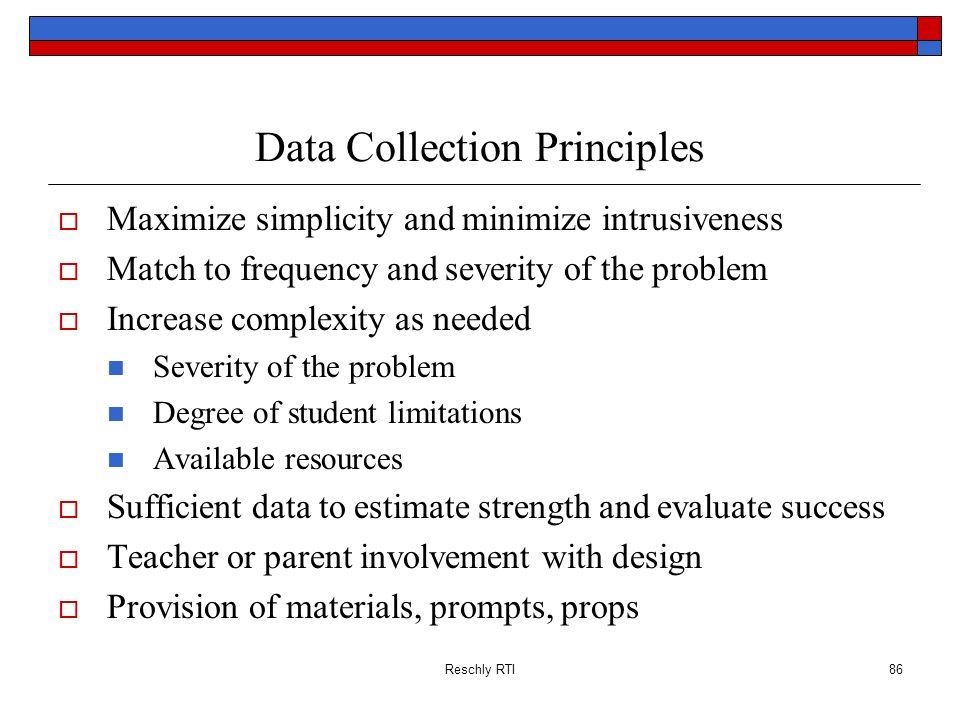 Data Collection Principles