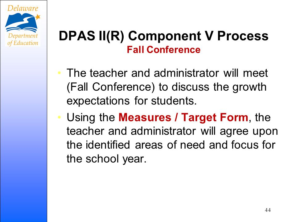 DPAS II(R) Component V Process Fall Conference