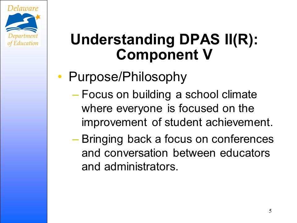Understanding DPAS II(R): Component V