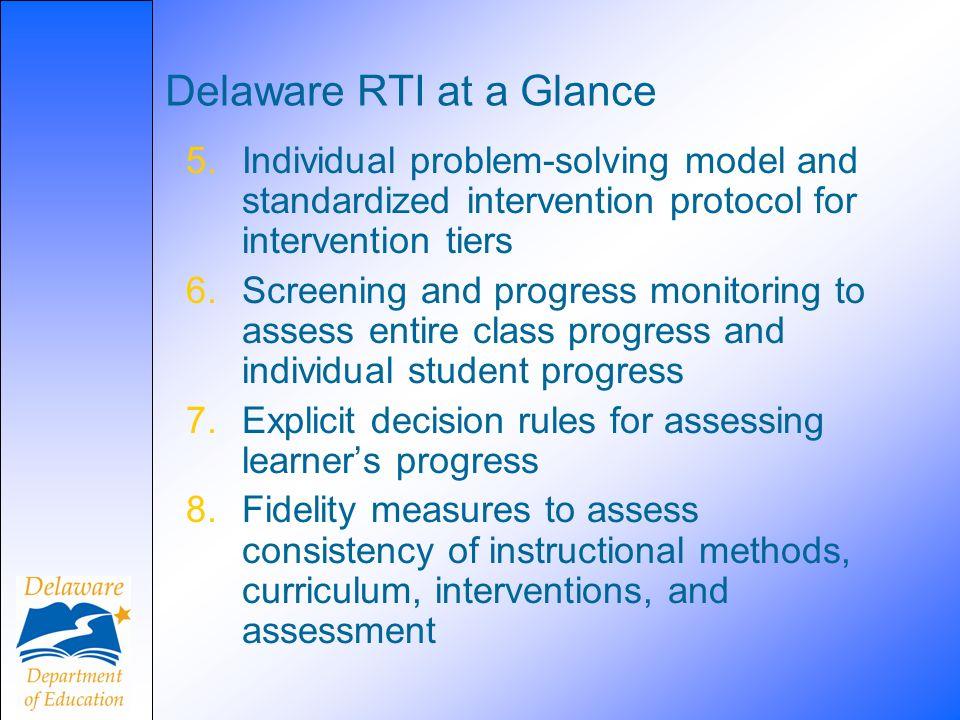 Delaware RTI at a Glance