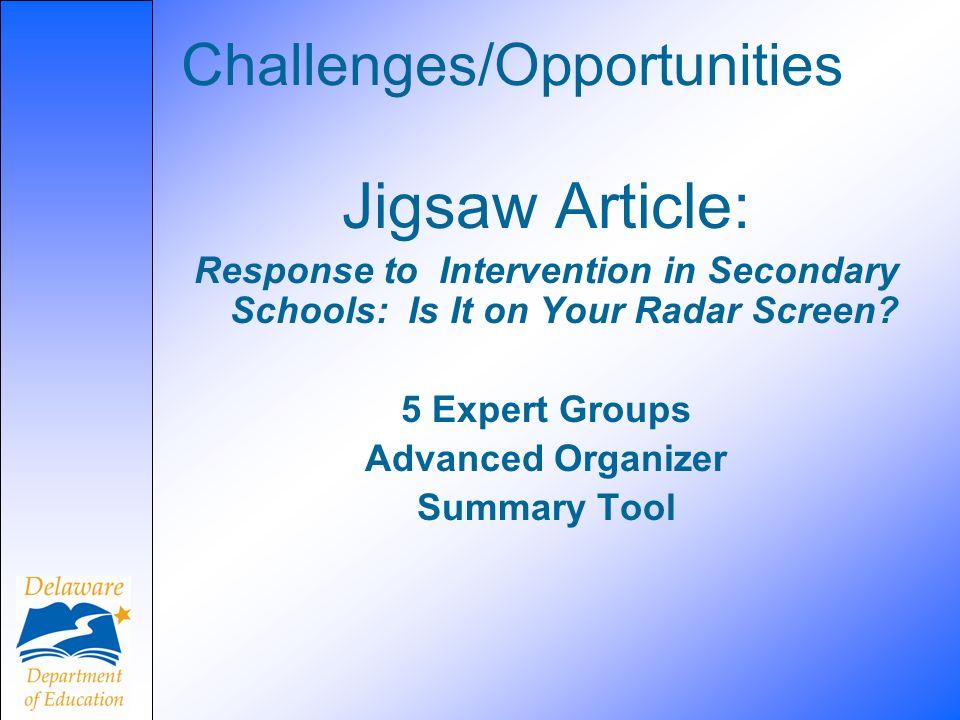 Challenges/Opportunities