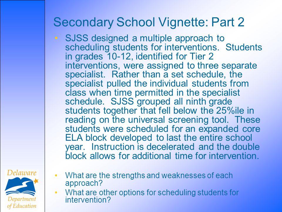 Secondary School Vignette: Part 2