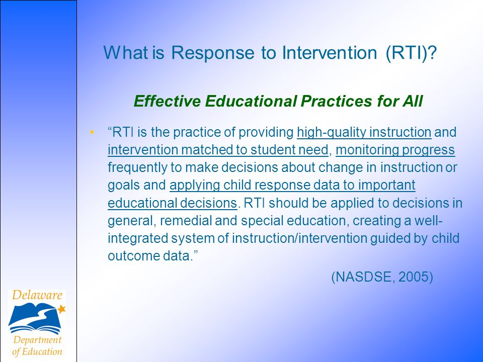 What is Response to Intervention (RTI)