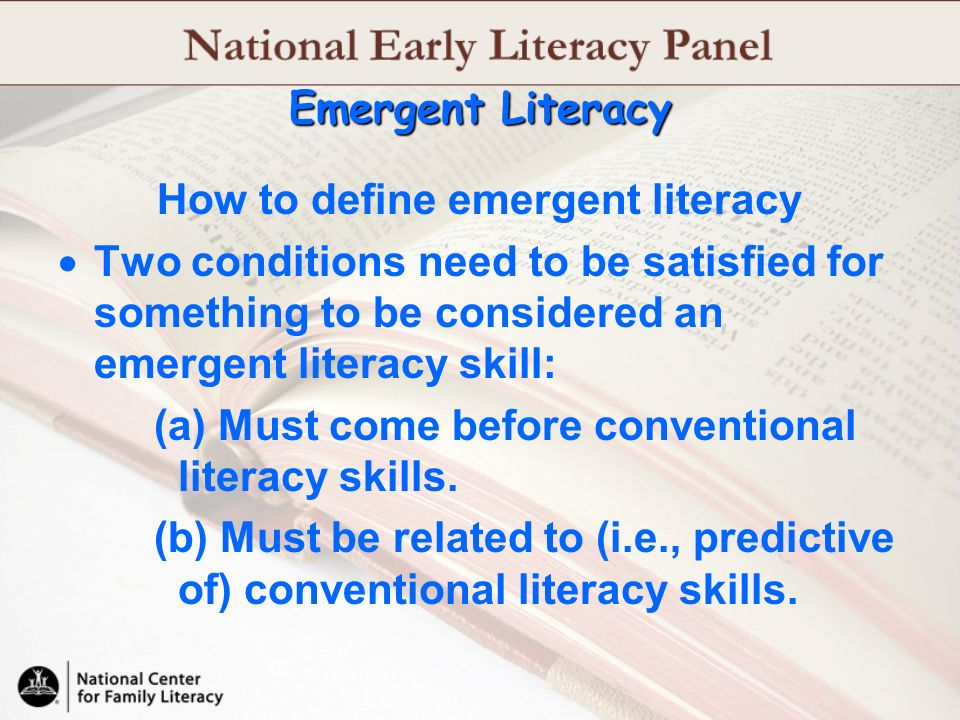 How to define emergent literacy