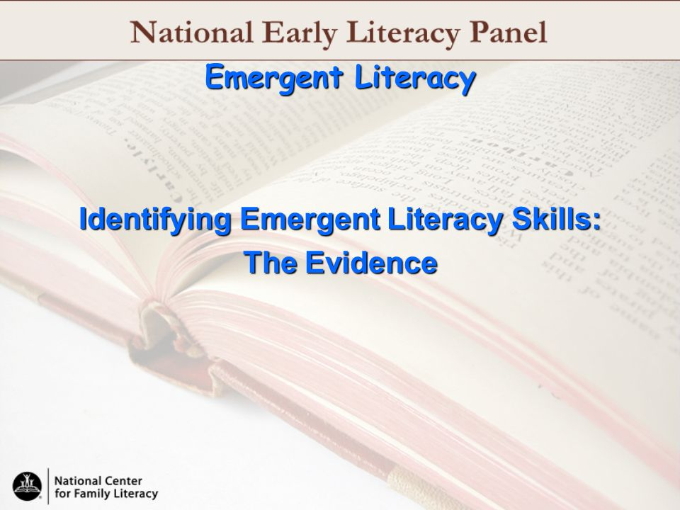 Identifying Emergent Literacy Skills: