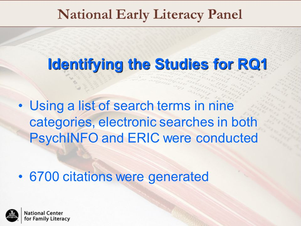 Identifying the Studies for RQ1