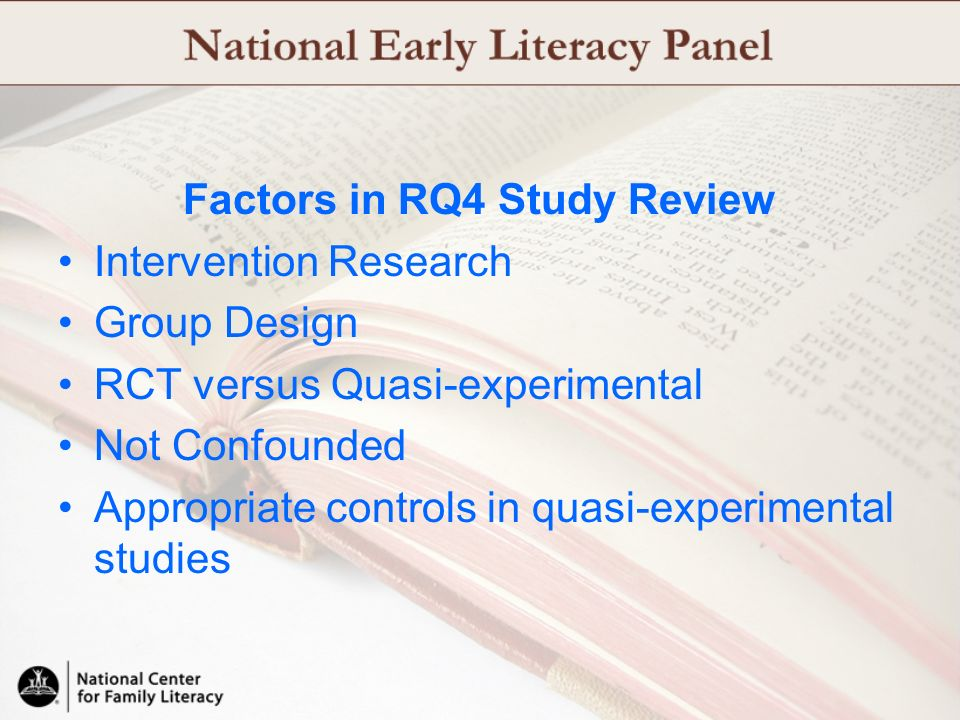 Factors in RQ4 Study Review