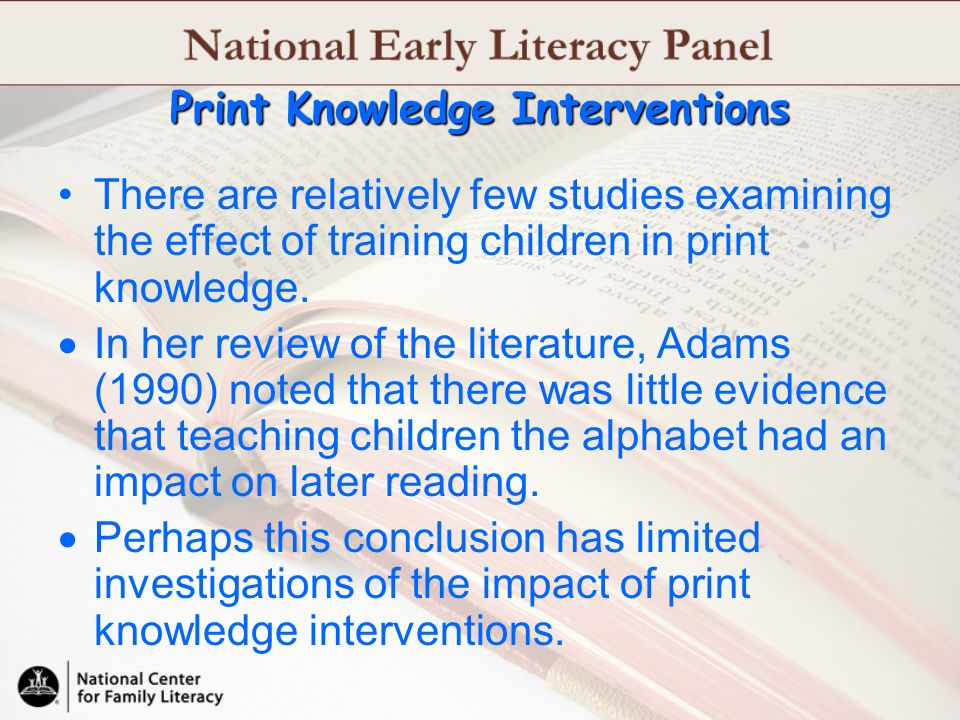 Print Knowledge Interventions
