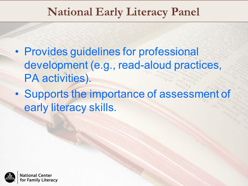 Provides guidelines for professional development (e. g