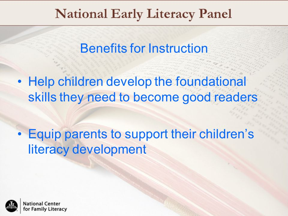 Benefits for Instruction