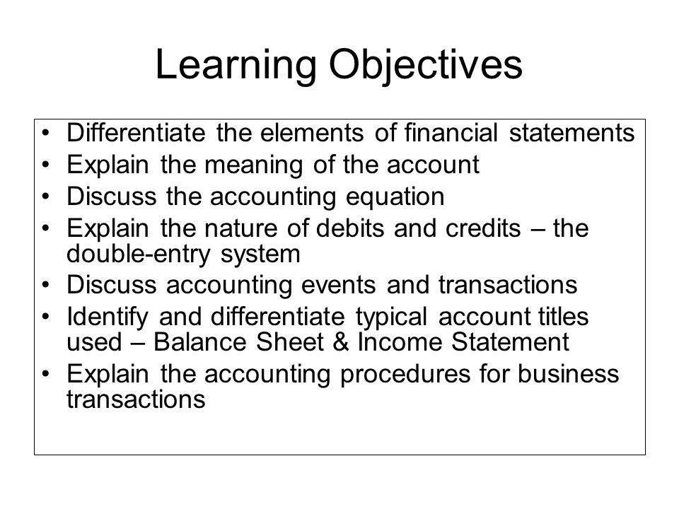 financial statement differentiation