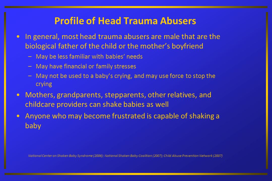 Profile of Head Trauma Abusers