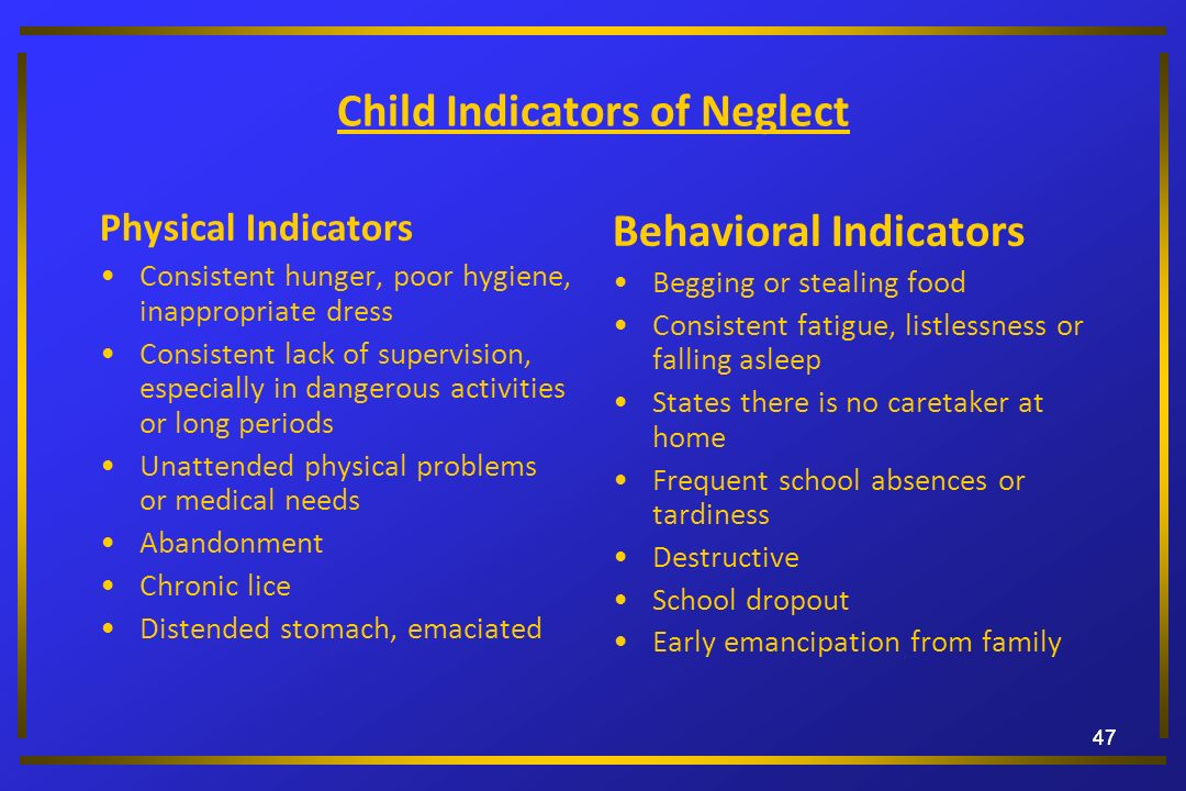 Child Indicators of Neglect