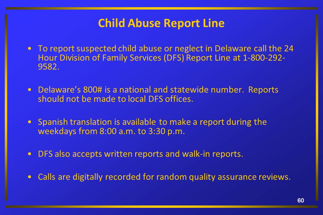 Child Abuse Report Line
