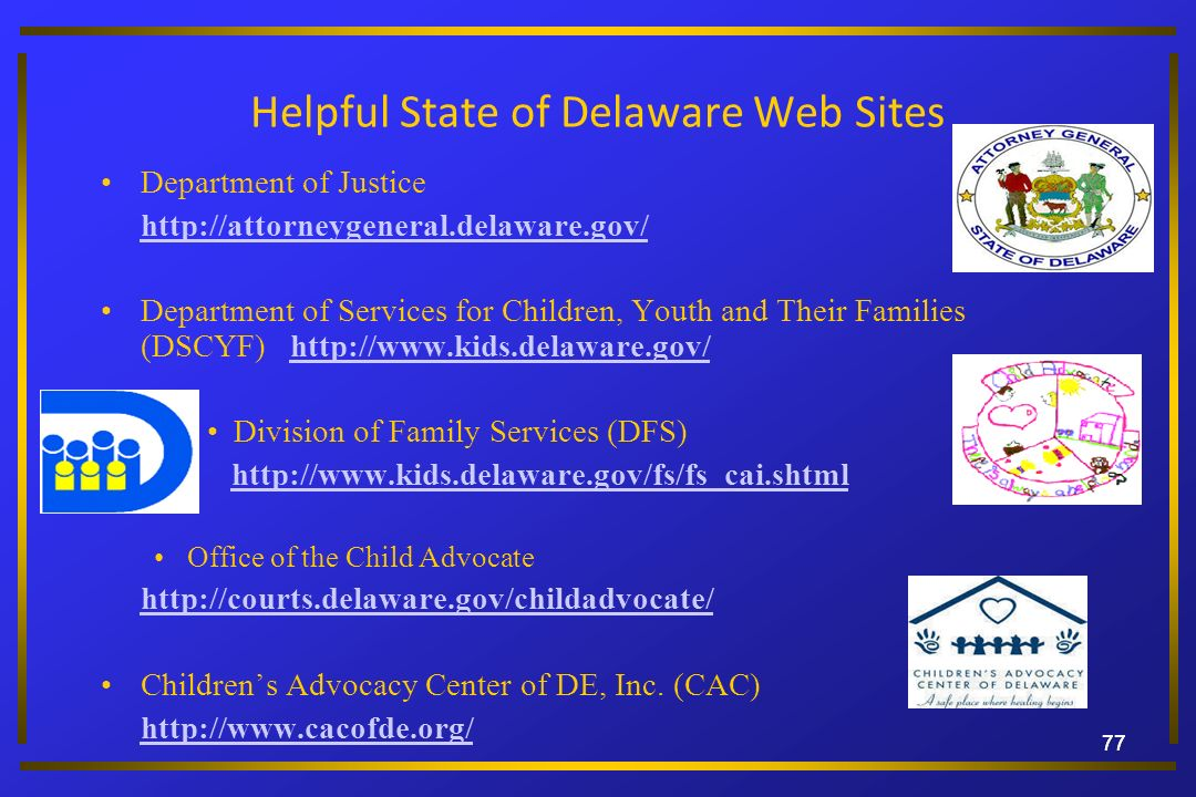 Helpful State of Delaware Web Sites