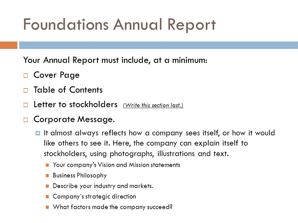 Annual Report & Stockholders Meeting - ppt download