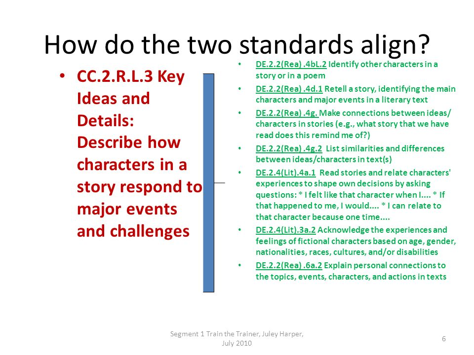 How do the two standards align